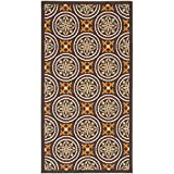 Safavieh Veranda Collection VER030-0325 Indoor/ Outdoor Chocolate and Terracotta Contemporary Area Rug (2'7″ x 5′) Review