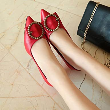 Covermason Zapatos Zapatos de tacón bajo de mujer, salón de punta estrecha Zapatos sueltos: Amazon.es: Ropa y accesorios
