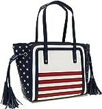 Stars & Stripes Flag Tassel Shoulder Handbag Purse