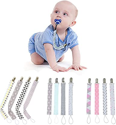 4 Pcs Pacifier Chain Teething Ring Holders Baby Boys Girls Braided Dummy Clips