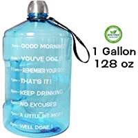 f54903a360d QuiFit 1 Gallon Water Bottle Reusable Leak-Proof Drinking Water Jug for  Outdoor Camping BPA