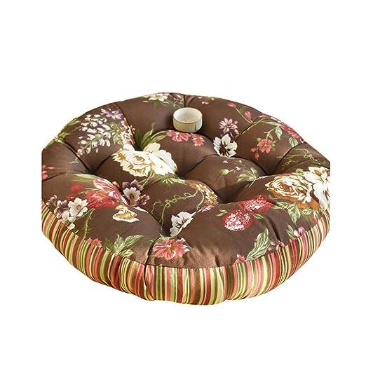 Seat cushion Cojín Redondo De Piso Grande, Espesar Lino ...