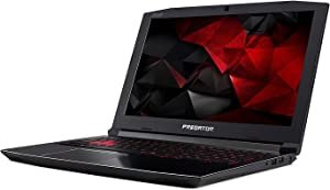 "Acer Predator Helios 300 15.6"" Full HD Gaming Laptop PC, Intel Core i7-7700HQ, NVIDIA GeForce GTX 1060, 32GB RAM, 256GB SSD, MicroSD Card Reader, Backlit Keyboard, Windows 10"