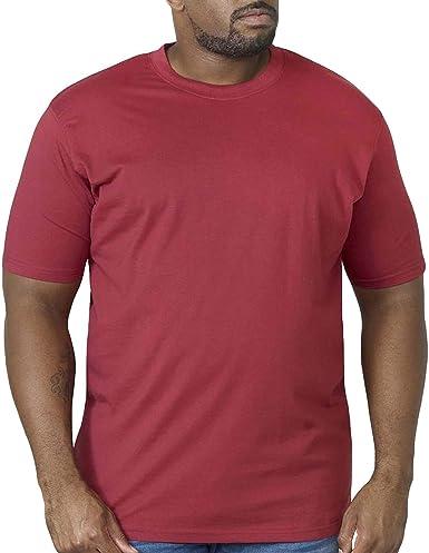 Duke London D555 Talla Grande Hombre Grande Volantes Camiseta Cuello en Pico Rojo 2xl-6xl
