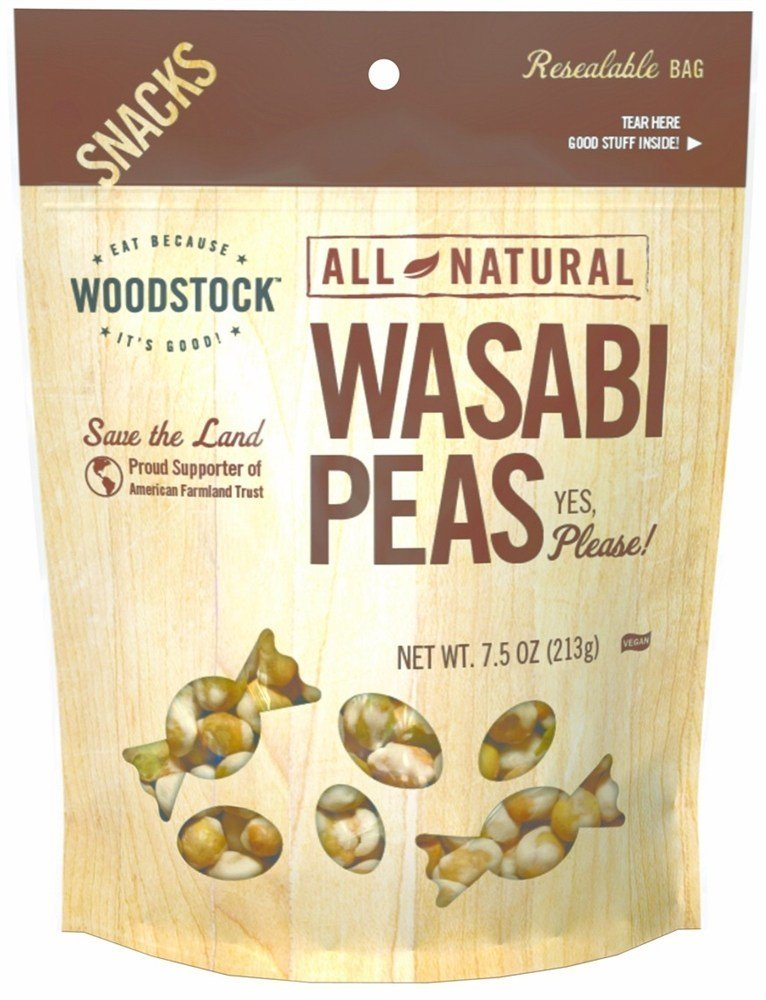 Woodstock Farms - All-Natural Wasabi Peas - 7.5 oz (pack of 2) by Woodstock