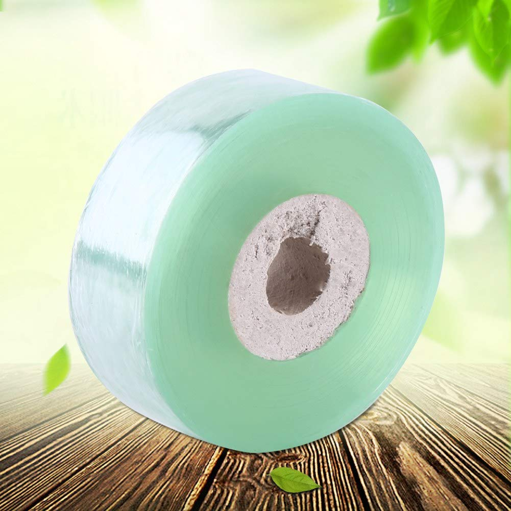 Qiilu Grafting Tape 2CM100M PVC Fruit Trees Secateurs Engraft Branch Grafting Tape