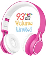 Kids Headphones, HD30 Kids Headphones with Microphone Volume Limiting for Boys Girls Compatible with iPhone Smartphone iPad Tablet Laptop (Pink)