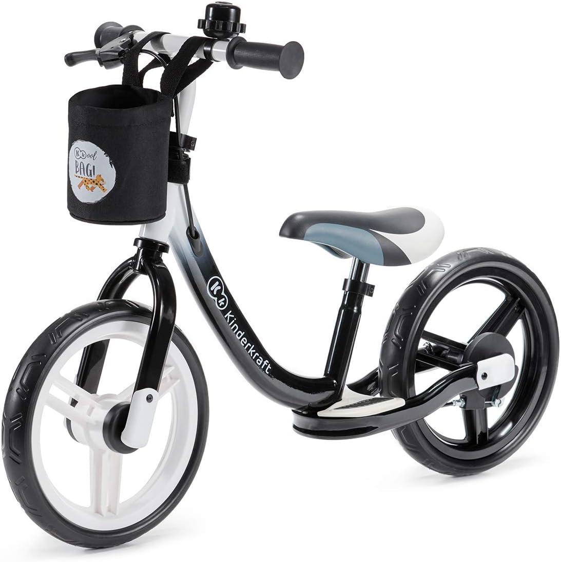 kk Kinderkraft Bicicleta sin Pedales Space, Sillín Ajustable, con Freno, Negro