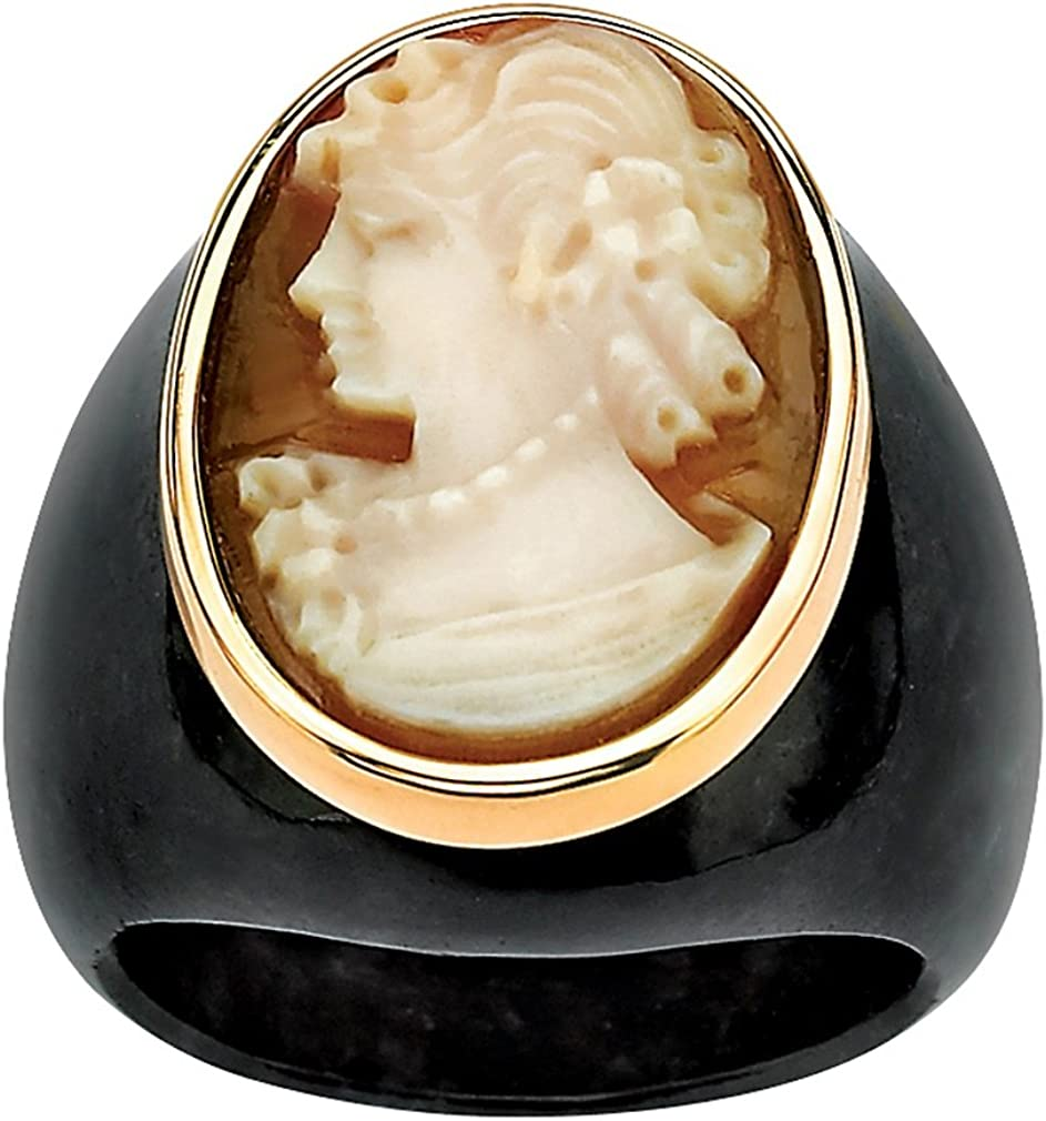 DV Jewels Green Onyx Gemstone Matte Ring