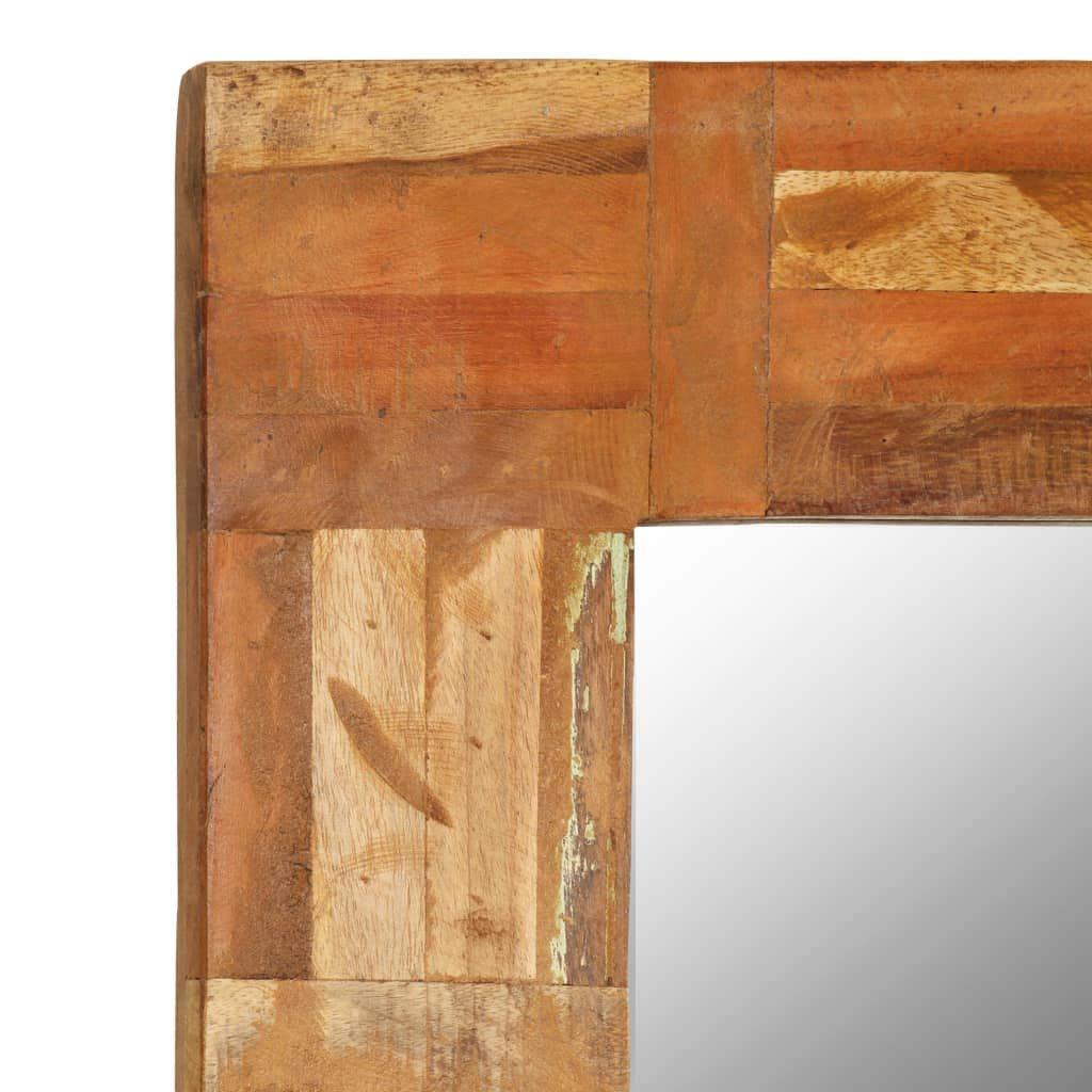 Fesjoy Specchio con Cornice in Legno rigenerato Specchio da Parete Specchio da Parete in Legno Naturale Specchio Grande da Parete Realizzato a Mano Regalo di inaugurazione della casa 60x90cm