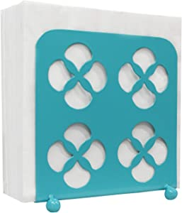 Blue Donuts Trinity Collection Napkin Holder – Napkin Holders for Tables, Farmhouse Napkins Holder, Dining Table Napkin Holders for Kitchen, Turquoise