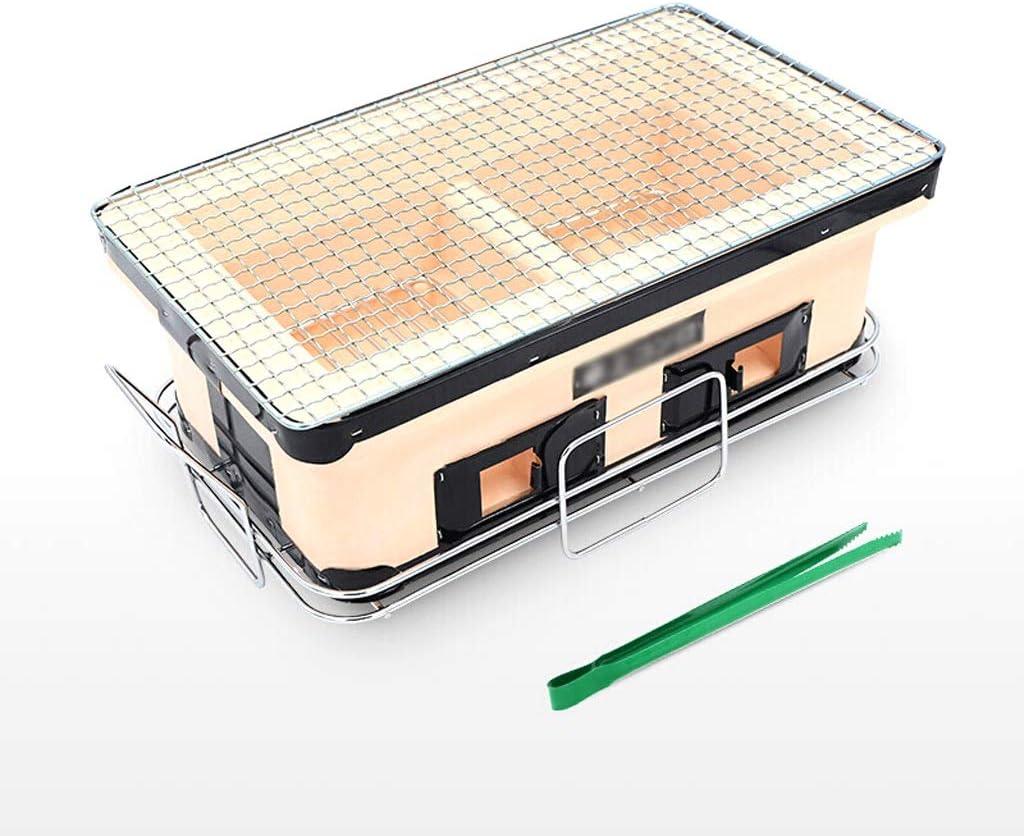 YF Cuisine de Plein air Barbecue Grill Style Japonais Clay Oven Charbon Cuisinière Barbecue Hot Pot d'extérieur Mini Place Outils de Barbecue (Color : Multi-Colored) Multi-colored