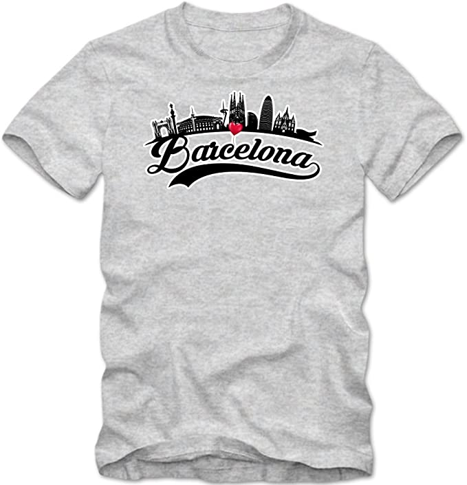Skyline Camiseta | Hombre | Barcelona | España | Capital | Silueta ...