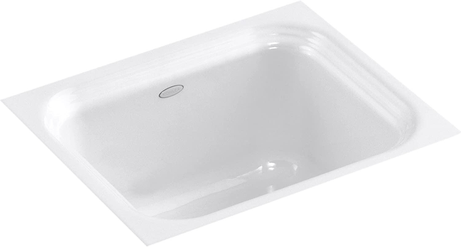 KOHLER K-6589-U-0 Northland Undercounter Entertainment Sink, White