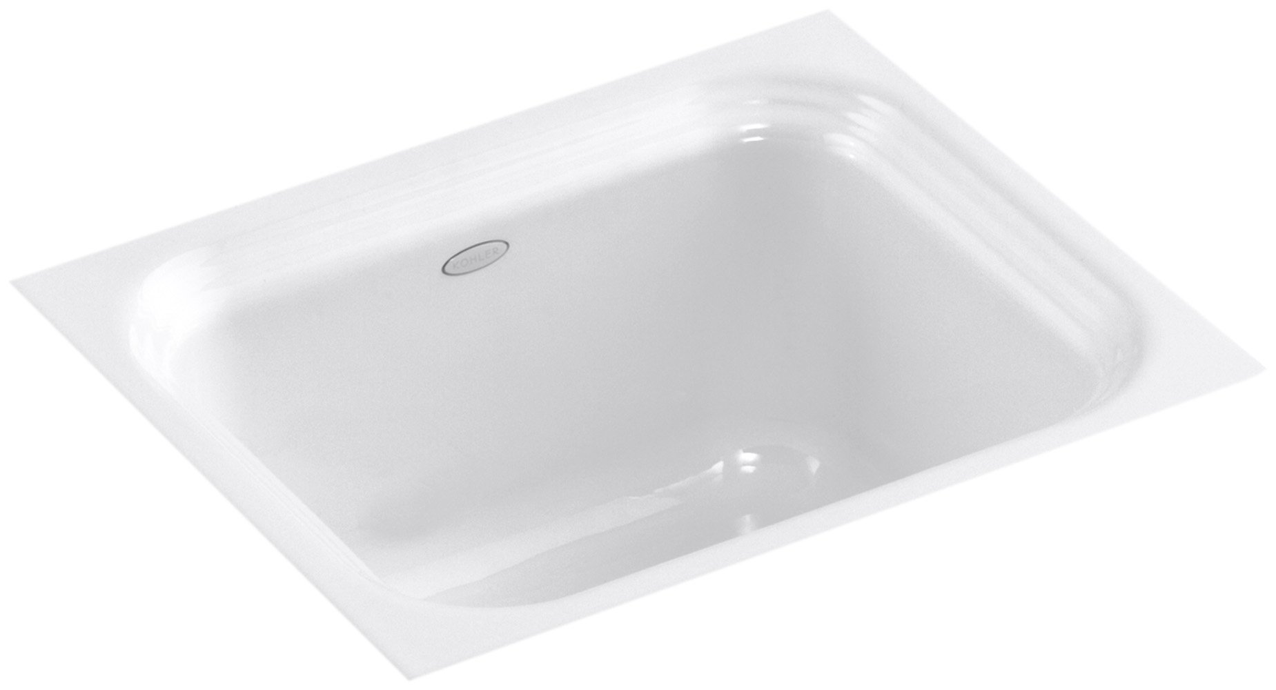 KOHLER K-6589-U-0 Northland Undercounter Entertainment Sink, White by Kohler