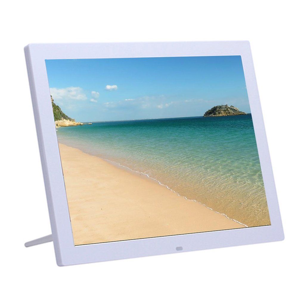 Minidiva 15Inch 4:3 Digital Photo Frame - 1024x768 High Solution Electronic Picture Frame with USB,USB mini,SD Interface(White)