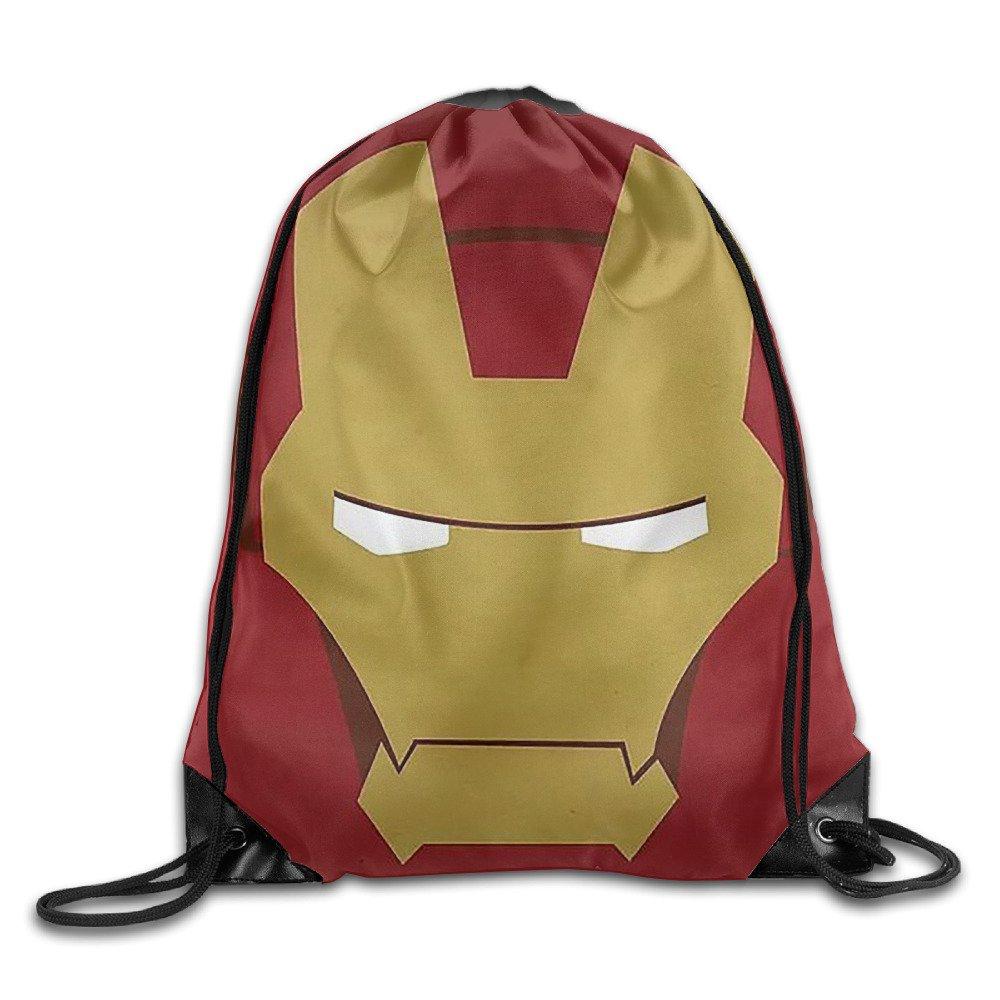 hotbb Cool Hero Iron Man Drawstringバックパック袋バッグ/バッグ B01KHOSBRM   One Size