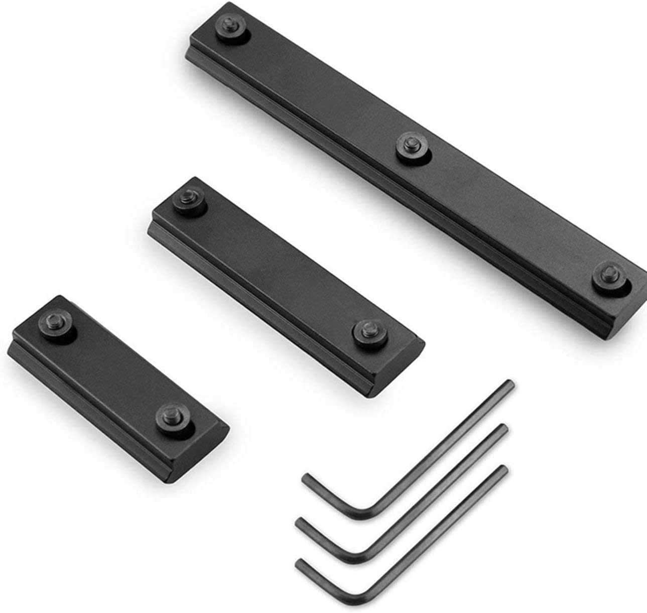 Elviray Durable Use Rail Sections for Keymod System Modkin Lightweight Keymod Rail Mount Pack of 3 13-Slot 7-Slot 5-Slot Aluminum