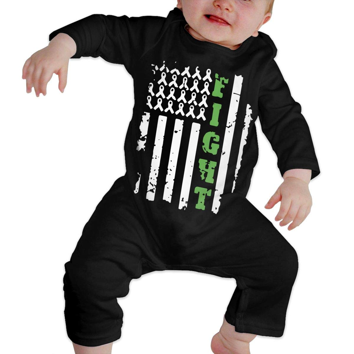 A1BY-5US Newborn Baby Boys Girls Cotton Long Sleeve Bile Duct Cancer Awareness1 Jumpsuit Romper Funny Printed Romper Clothes