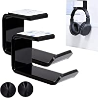 2 Pack Headphone Stand Hanger, Reayou Headphone Holder Under Desk Mount Hook Hanger with Free Cable Organizer, Under…