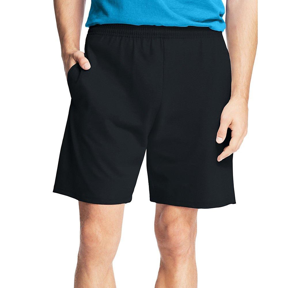 Hanes Mens Jersey Cotton Shorts/_Black/_4XL
