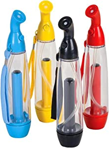Kicko 2.5oz. Personal Water Mister - Assorted Colors Hand Pump for Humidification and Cooling, 4 Pack, Colors Vary