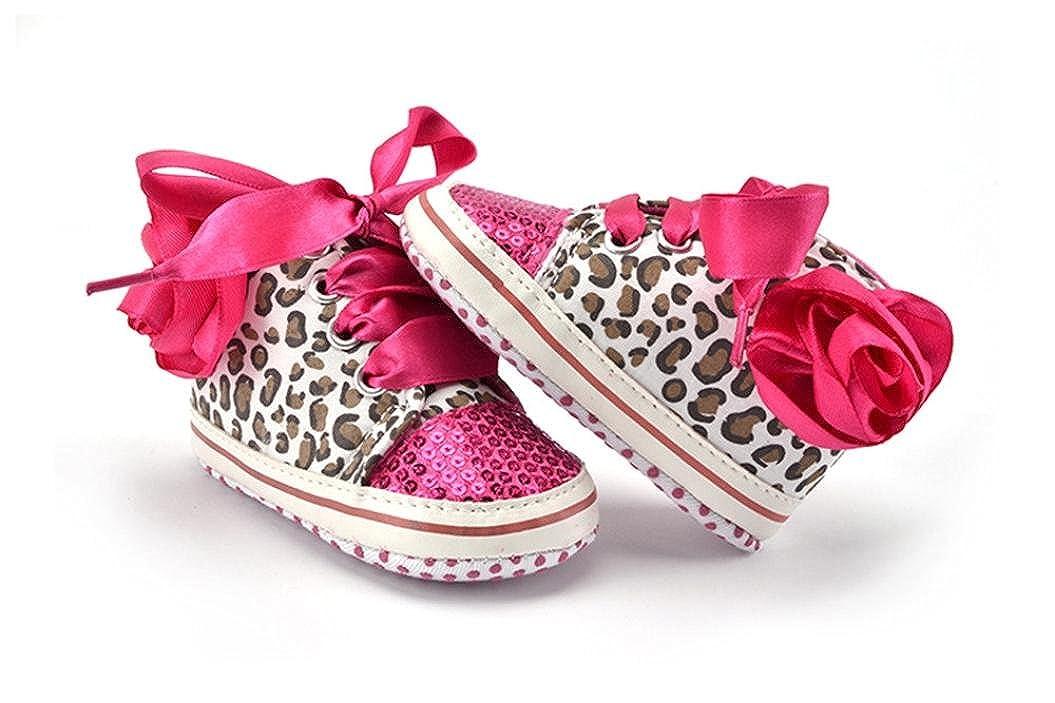 Jungen M/ädchen Leopard Pailletten Splei/ß weiche Schuhe Flower Sneakers Schuhe Amlaiworld Babyschuhe