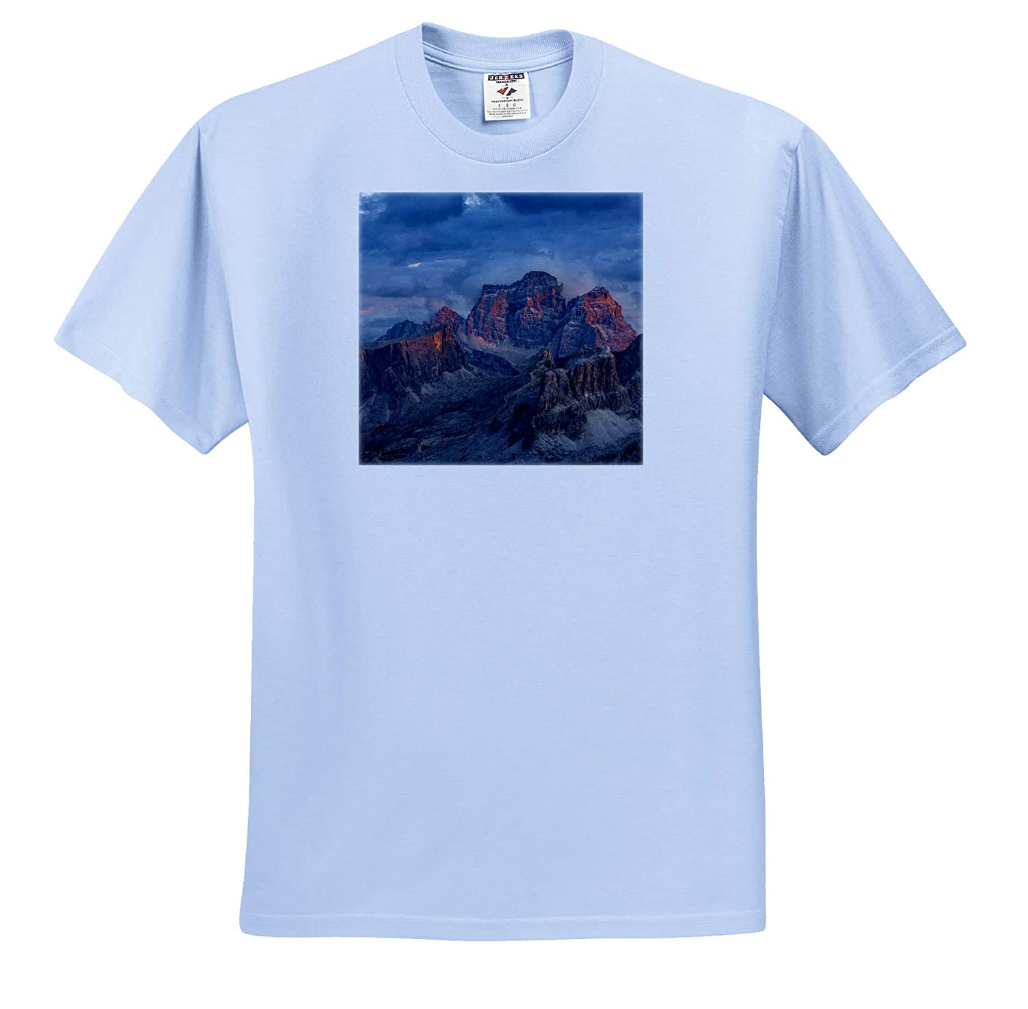 - Adult T-Shirt XL ts/_313724 Italy 3dRose Danita Delimont The Dolomites in The Veneto Mountains