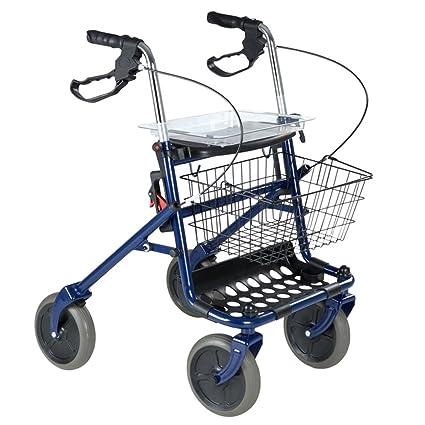 HJHY ayudas para caminar, andador de cuatro ruedas andador ...