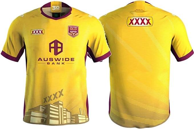 JUNBABY 2021 Maroons Camiseta De Rugby, Nueva ...