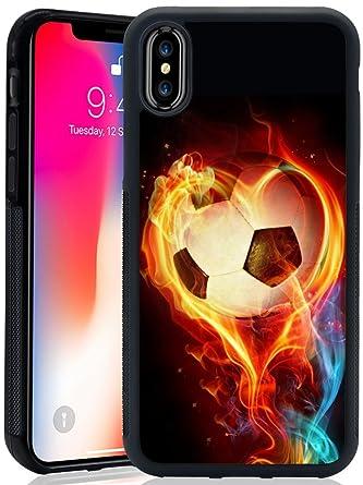 Amazon.com: Carcasa para iPhone X iPhone 10, diseño de fuego ...