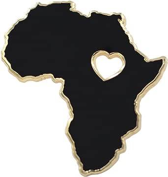 REAL SIC Africa Pin - Wakanda Forever, BLM, & Black Panther Enamel Pin