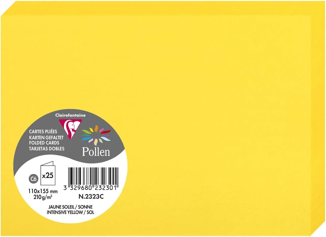 Carte Pollen 110x155 lilas pqt 25