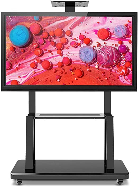 ZYH-Shelf Rolling TV Cart Soporte para TV Móvil para Pantalla ...