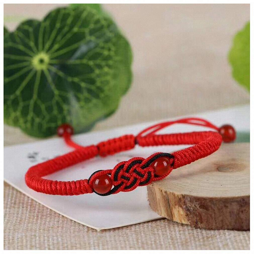 Hynsin Chinese Knot Lucky Red Rope Bracelet for Man /& Women Personality Lovely Bracelet