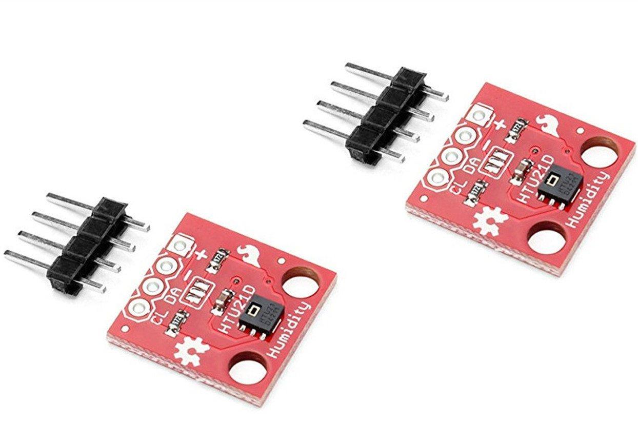 NOYITO HTU21D Temperature Humidity Sensor Breakout Module I2C IIC 1.5V-3.6V 0-100% RH Compatible With SHT20 SHT21 Replace SHT15-2pcs