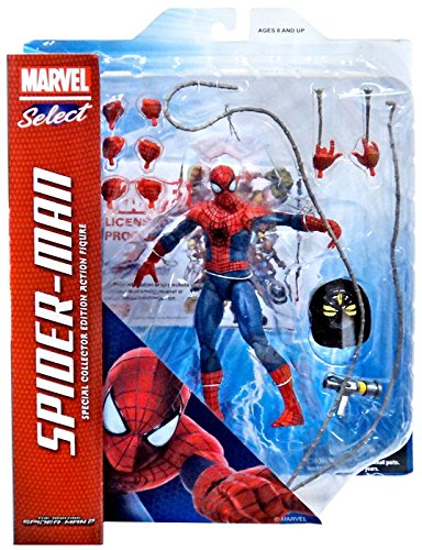 Marvel Amazing Spider-Man 2 Select Spider-Man Action Figure [Includes Fire Helmet & - Spider Amazing Figure 2 Man