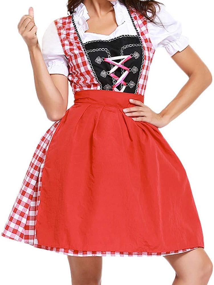 ZzZz Robe Femme Chic El/éGant Vintage Mode Tendance Automne Hiver Nouveau Costume dOktoberfest pour Femme Bavarois Bi/ère Fille Drindl Tavern Maid Dress