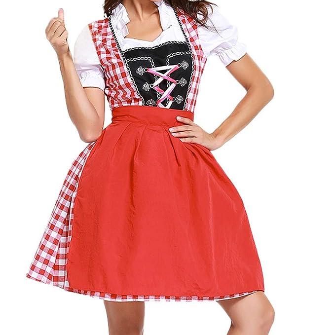 Costume Outfit Bavarian New Oktoberfest Beer German Dirndl Traditional Dress