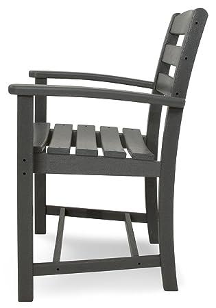 POLYWOOD TD200GY La Casa Caf Dining Arm Chair, Slate Grey