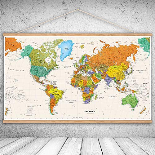 Water Hep Map Wall Sticker Canvas Oil Prints