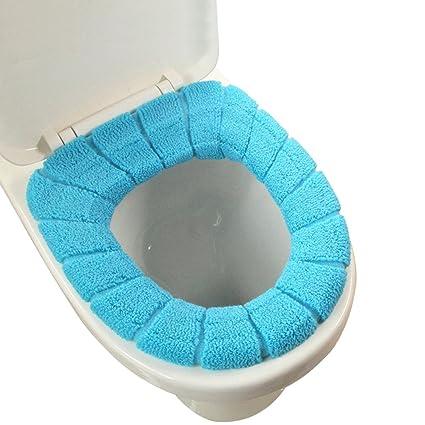 Funda de tela de asiento de inodoro, cubierta para tapa de inodoro redonda, almohadilla