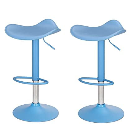 Amazing Joveco Contemporary Adjustable Bar Stools With Saddle Seat Seat Of 2 Ibusinesslaw Wood Chair Design Ideas Ibusinesslaworg