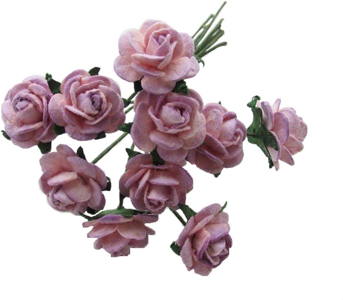 24 x papel de morera Rosas 1.5cm Marfil