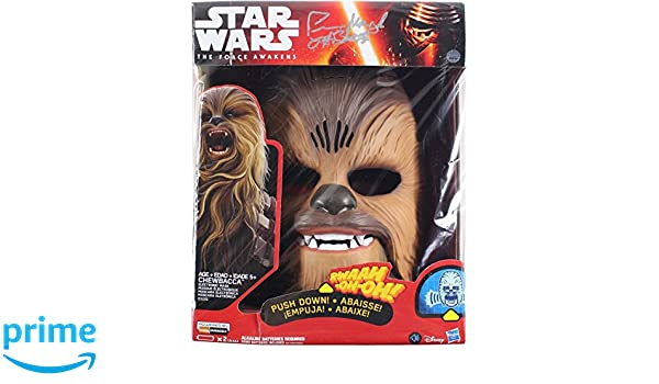 Peter Mayhew Signed Star Wars The Force Awakens Chewbacca Electronic Mask (Signed on Box) at Amazons Sports Collectibles Store