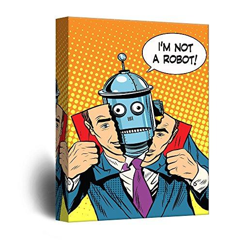 Robot Political Propaganda Pop Art Comic Illustration