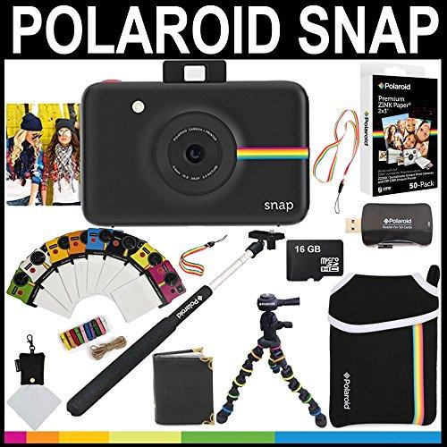 polaroid-snap-instant-camera-black-2x3-zink-paper-50-pack-neoprene-pouch-selfie-pole-photo-frames-ph