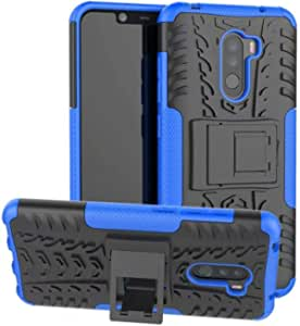 Xiaomi Pocophone F1 Heavy Duty Armor Tough Rugged Impact Strong Anti Crack Full Body Protective Hybrid Defender Phone Case Cover