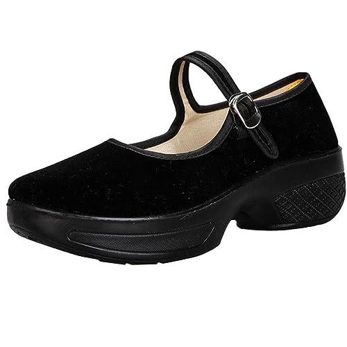 ... con Hebilla Calzado Dama Fiesta Terciopelo Casual Zapatos Calzado de Trabajo Cómodos Zapatillas Moda Talla Grande: Amazon.es: Zapatos y complementos