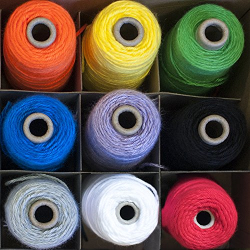 Sax Acrylic Double Weight Yarn Box, 4-Ply, Assorted Colors, Set of 9 by Sax